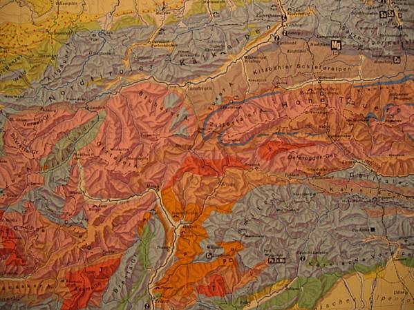 Karte Tirol.Tirol Karte